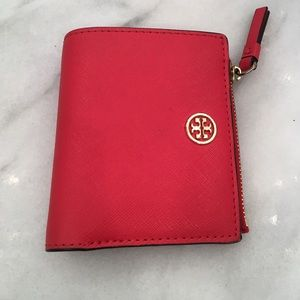 Tory Burch Wallet in Candy Apple Red color.
